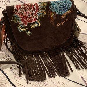 Desigual Crossbody 100% buff leather bag